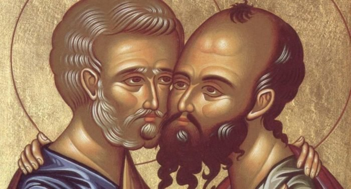 Как изображают апостолов Петра иПавла?