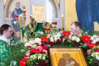 Храм преподобного Сергия Радонежского в Солнцево. Всенощное бдение. Фото Юлии Маковейчук