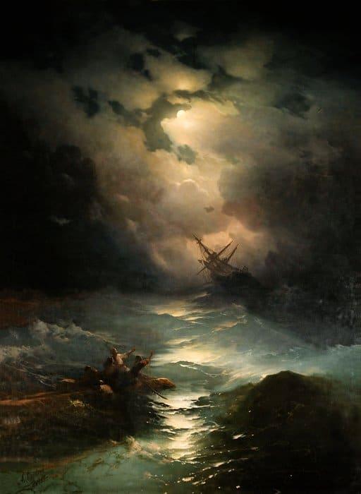 Буря ночью. 1864
