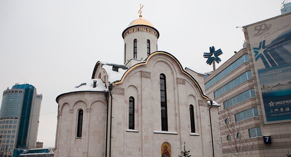 Храм преподобного Серафима Саровского на Краснопресненской набережной