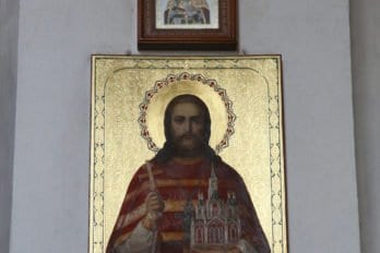Настоятель собора, , первый касимовский священномученник, принявший мученическую кончину в ноябре 1918 года отец Матфий Рябцев. Фото Владимира Ештокина
