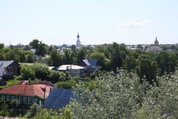 Вид с колокольни Троицкого храма. Касимов. Фото Владимира Ештокина