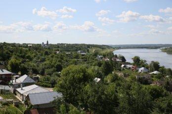 Вид с колокольни церкви Богоявления. Касимов. Фото Владимира Ештокина