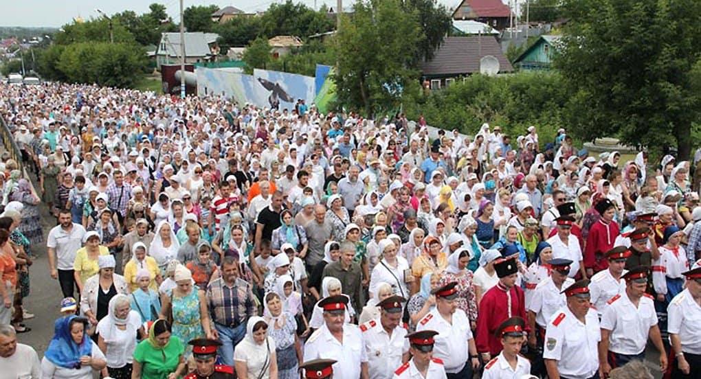 На Петра и Павла в Петропавловске прошел самый большой крестный ход Казахстана
