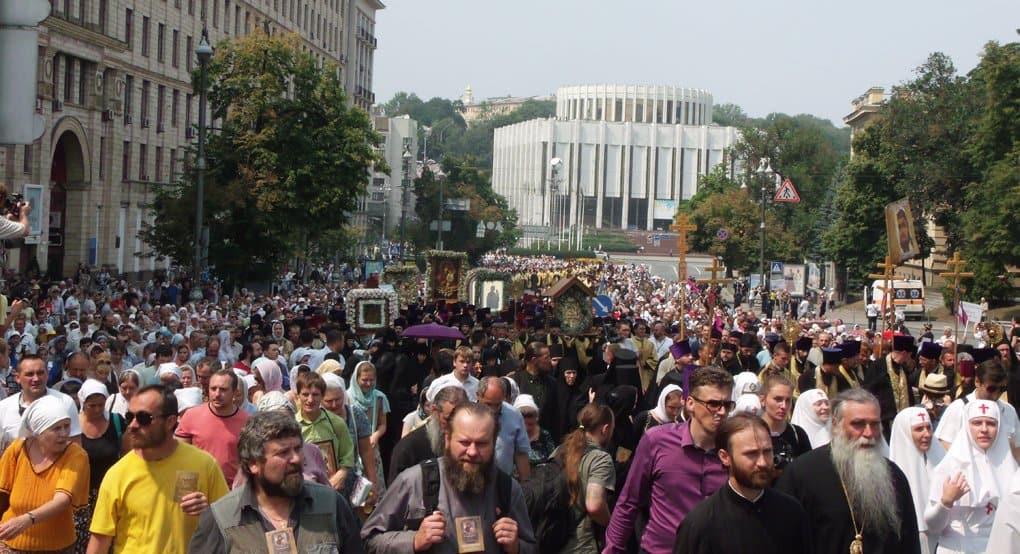 Всеукраинский крестный ход завершился шествием 100 тысяч верующих