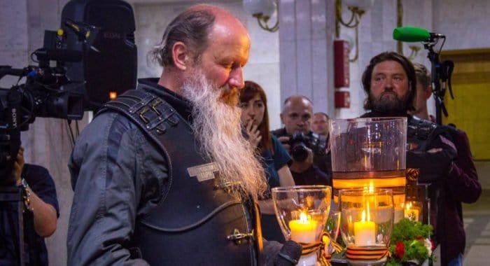 Митрополит Вятский Марк проехал на мотоцикле путем Александра Невского