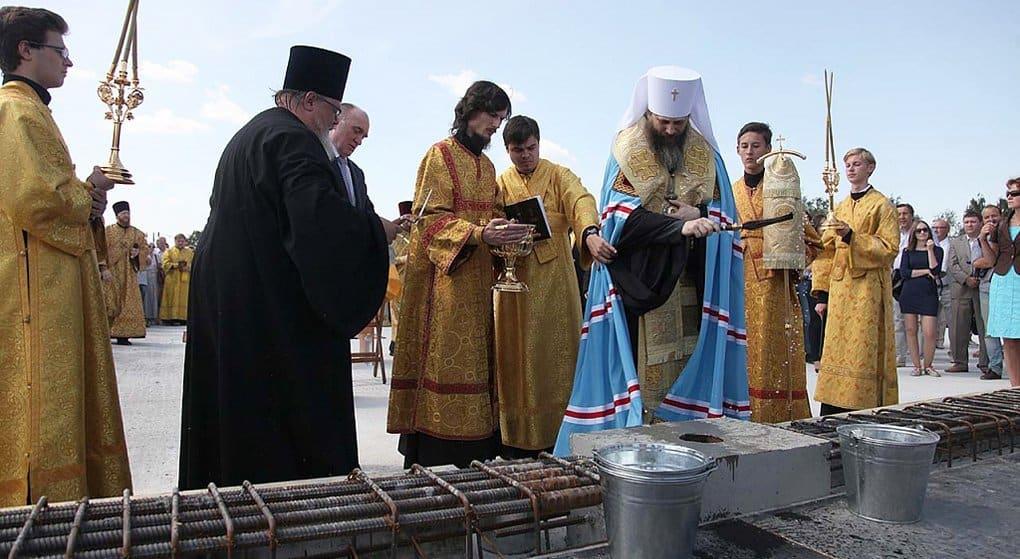 В Челябинске заложили кафедральный собор на 3 тысячи верующих