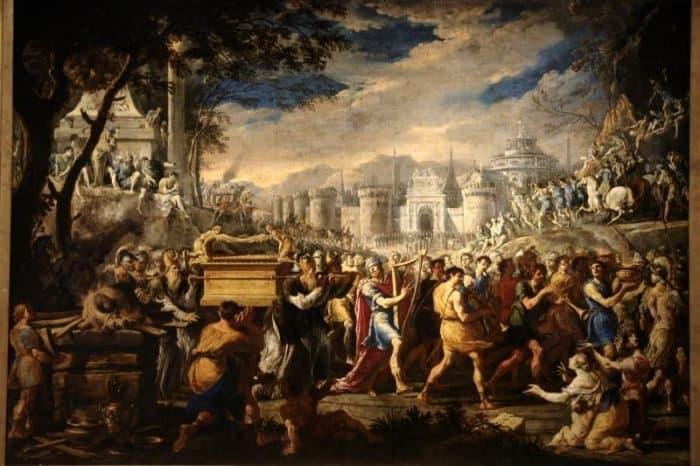 Перенесение Ковчега Завета царём Давидом в Иерусалим. Доменико Гарджуло
