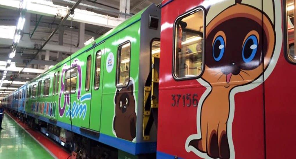 По московскому метро поехал поезд для детей «Союзмультфильм»