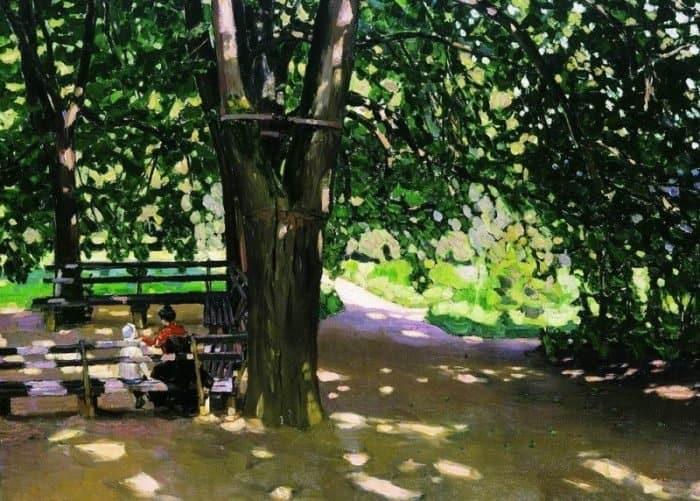 В тени лип. Демьяново. 1907