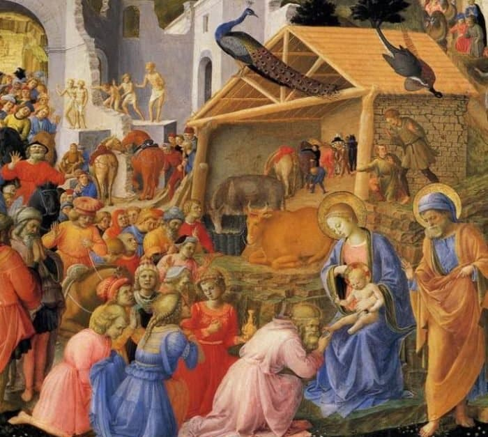 Поклонение волхвов. Фрагмент. 1445 г. Фра Филиппо Липпи. Национальное галлерея искусства, Вашингтон. Темпера по дереву