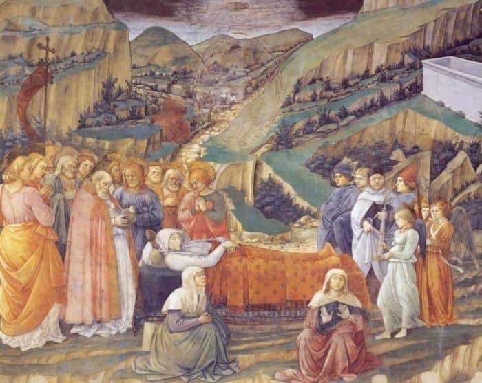 Успение Богоматери. 1467-69 гг. Фра Филиппо Липпи. Дуомо, Сполето. Фреска