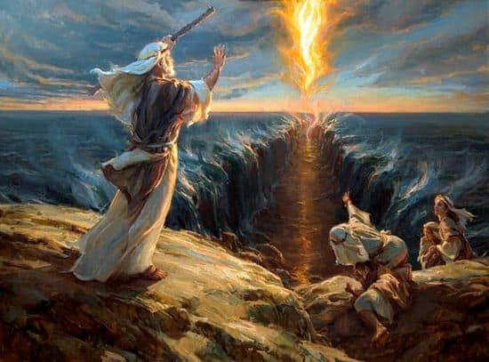 Переход евреев по дну Красного моря. Картина Даниэля Герхарца