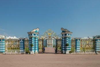 Екатерининский дворец. Камероновская галерея в Екатерининском парке Царского села