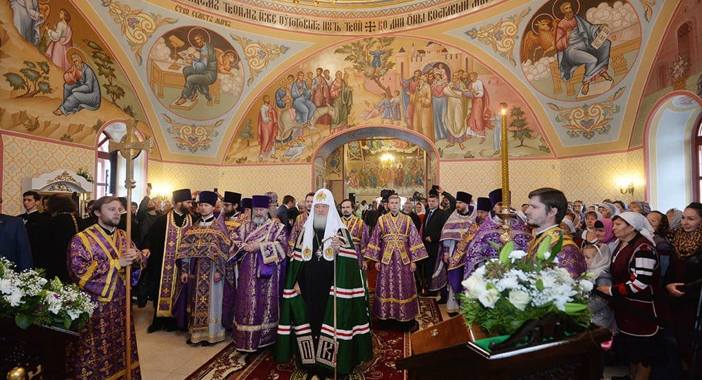Патриарх Кирилл освятил в Новой Москве восстановленный храм XIX века