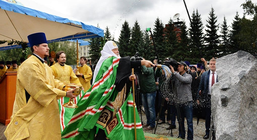 На месте разрушенного храма Горно-Алтайска патриарх Кирилл заложил собор