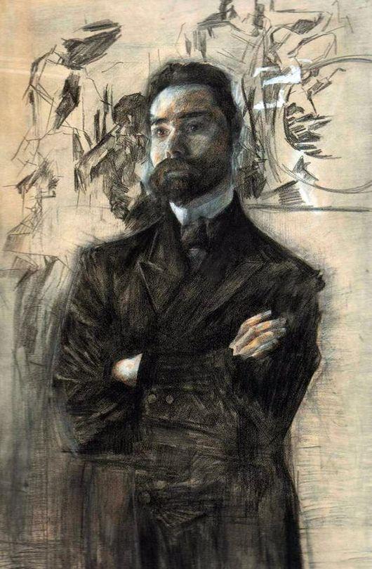 Михаил Врубель. Портрет Валерия Брюсова. 1906 г.