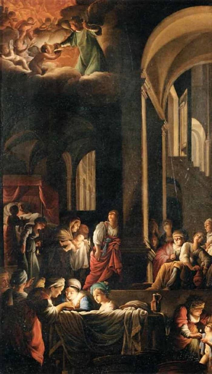 «Рождество Пресвятой Богородицы» Карло Сарачени (Венециано)— что мызнаем ободной излучших работ мировой живописи?