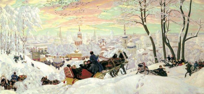 """Борис Кустодиев. """"Масленица"""", 1903."""