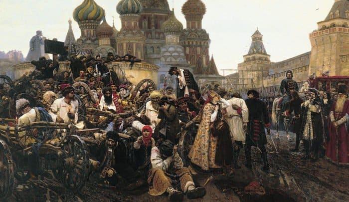 """Василий Суриков, """"Утро стрелецкой казни"""", 1881"""