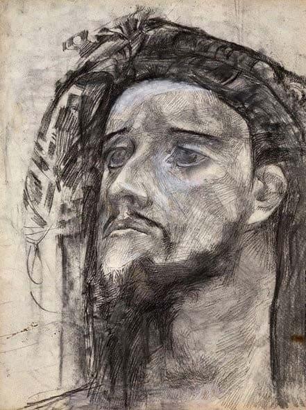 """Голова пророка"". М. А. Врубель"