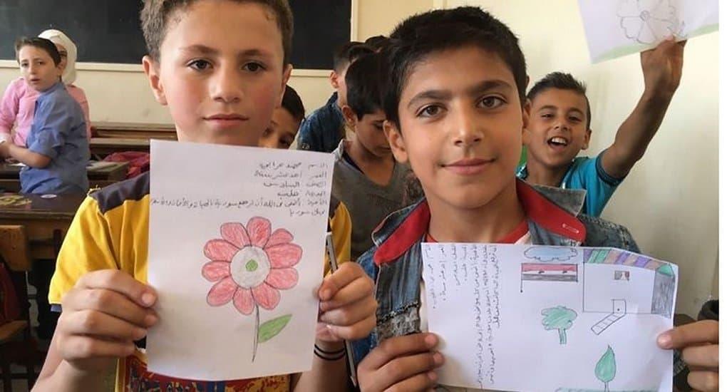 При поддержке Церквей дети Сирии передали ООН и ЕС послания мира