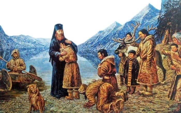 Прощание сАмерикой святителя Тихона. Филипп Москвитин. 1995