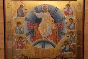 Икона на которой Христос изображается так, как Он явился перед апостолом Иоанном Богословом. Это событие последний описал в книге «Апокалипсис»