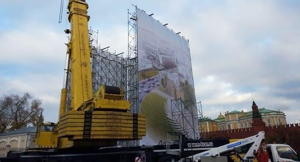 В Москве монтируют памятник святому князю Владимиру