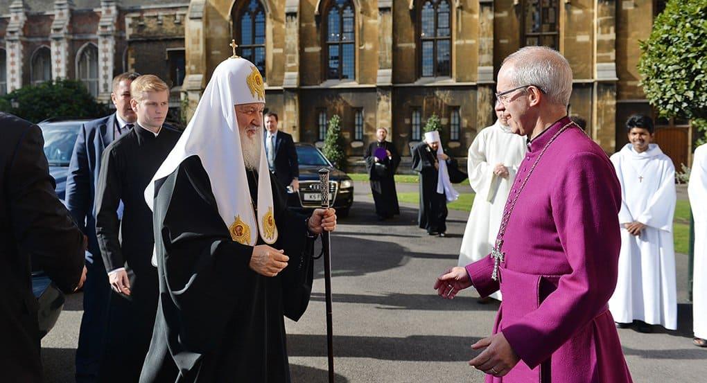 Патриарх Кирилл надеется, что англикане сохранят верность Евангелию