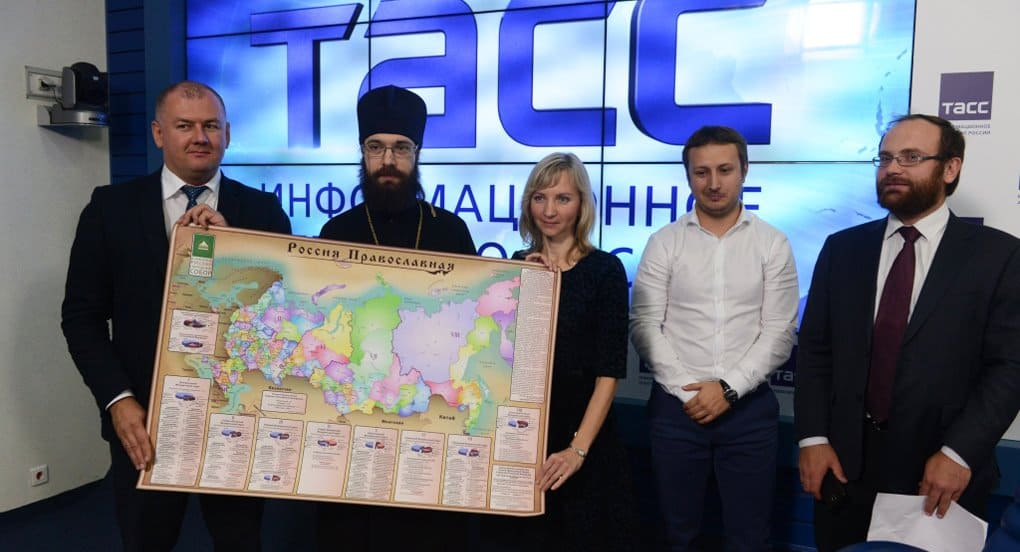 Первая настенная православная карта появилась в России
