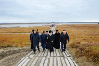 Прибытие на научно-исследовательскую станцию «Самойловская», Якутия