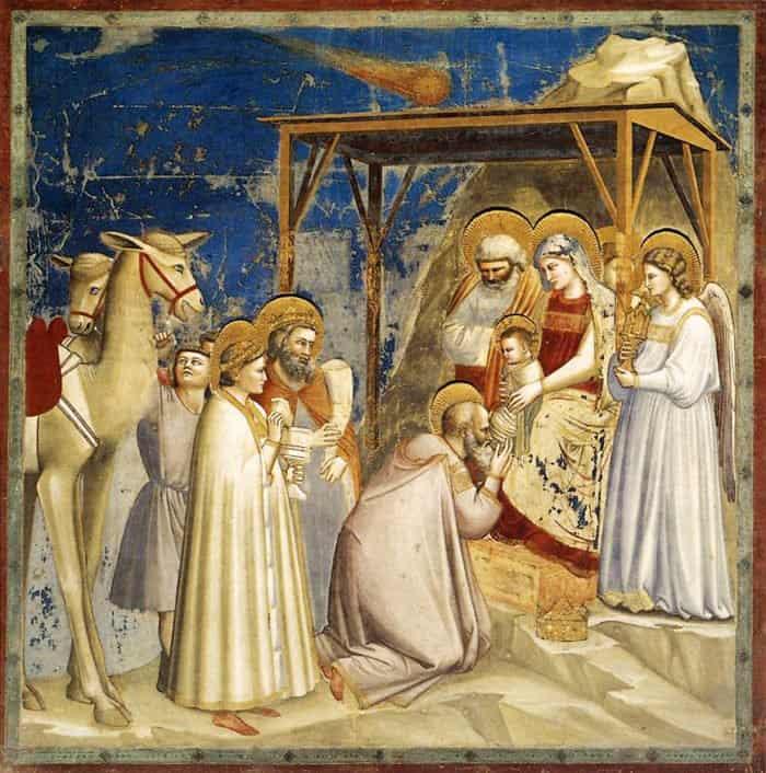 Поклонение волхвов. Джотто ди Бондоне. Между 1305 и1313