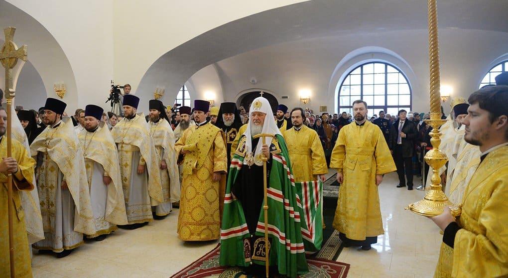 Патриарх Кирилл освятил в Гусеве храм-памятник героям Первой мировой