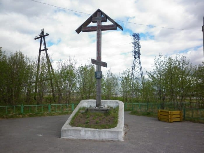 Крест в память о Святом Феодорите Кольском