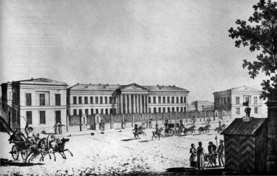 Мариинская больница литография 1820-х гг.