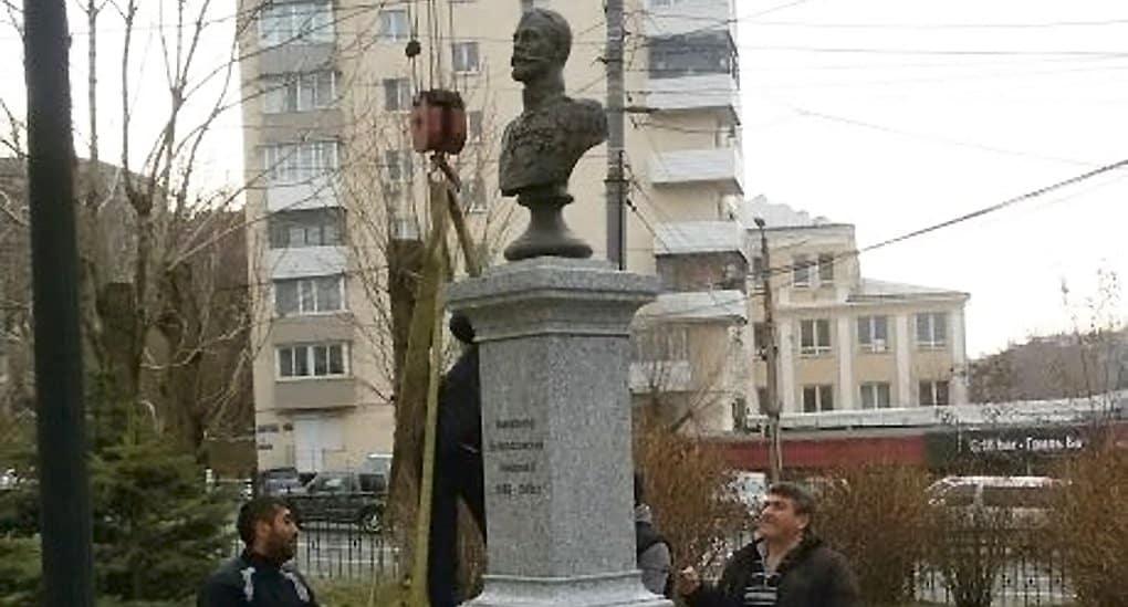 Во Владивостоке готовятся открыть бюст царя Николая II