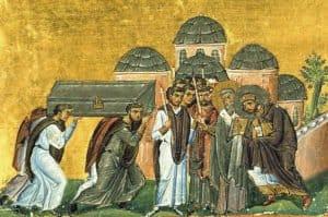 Перенесение мощей Иоанна Златоуста в Константинополе в храм святых апостолов