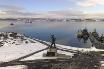Площадь в Североморске. Фото: Вячеслав Лобанов