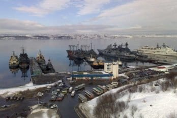 Стоянка кораблей. Североморск. Фото: Вячеслав Лобанов