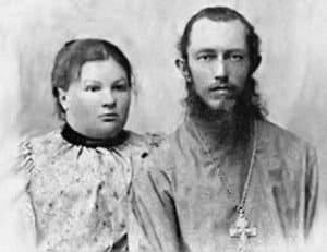 Священник Иосиф Фудель с матушкой Евгенией