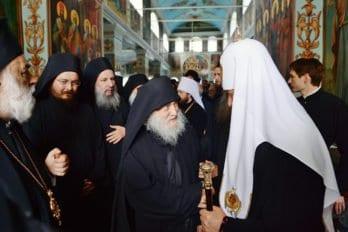 С афонскими монахами