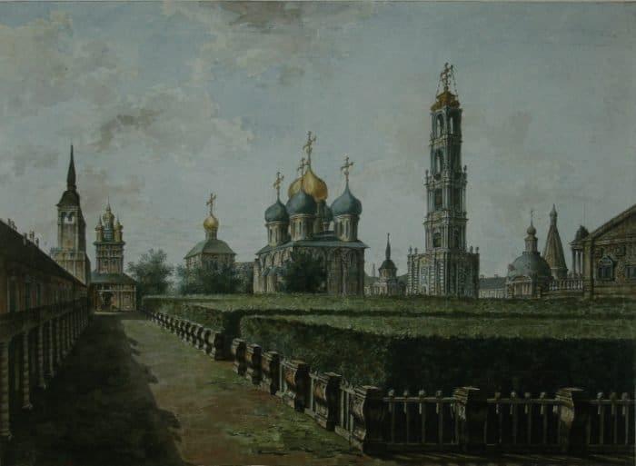 Федор Алексеев. Троице-Сергиева Лавра. 1800-е (Эрмитаж)