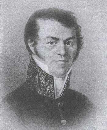 Михаил Андреевич Достоевский, отец Федора Михайловича. Фотография 1866 г. с пастели Попова, 1823 г.