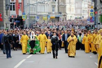 Крестный ход, посвященный 700-летию начала служения вМоскве святителя Петра, первого митрополита Московского, 2015
