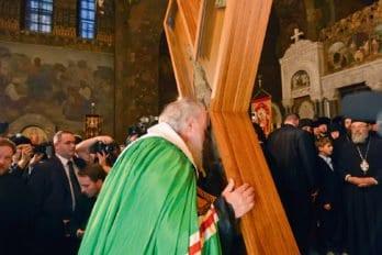 У креста святого апостола Андрея Первозванного