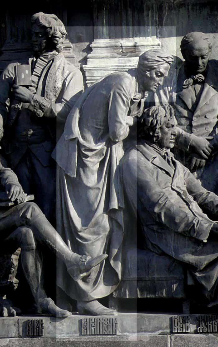 Н.М.Карамзин напамятнике «1000-летие России» вВеликом Новгороде. Автор: Дар Ветер, CC BY-SA 3.0