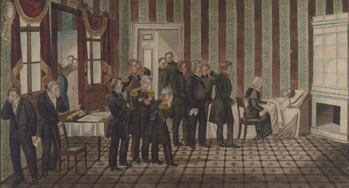 Смерть Александра I в Таганроге. Неизвестный автор, XIX век