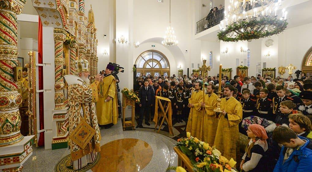 Патриарх Кирилл освятил столичный храм Спиридона Тримифунтского