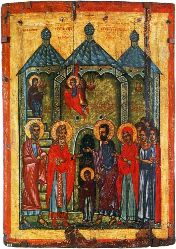 Икона. Новгород. XIV в
